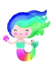 S/Shape Colorful Mermaid P35
